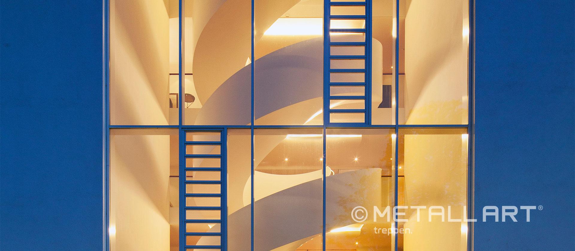 Treppe gewendeltes Design