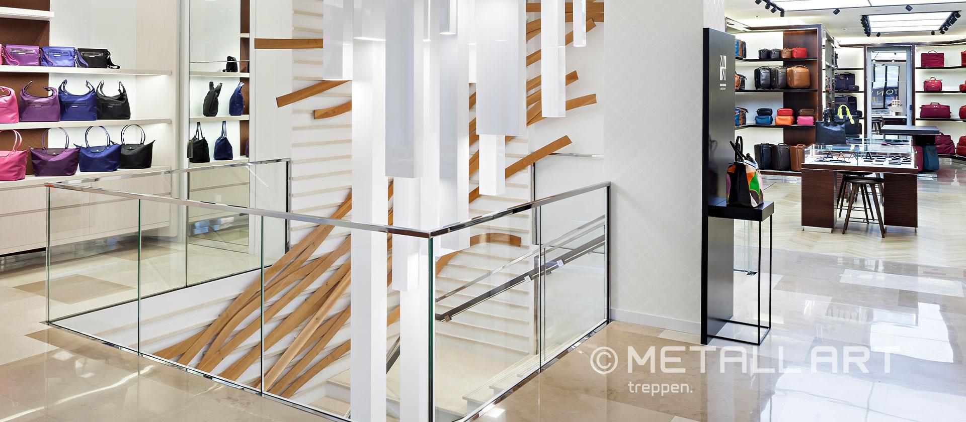 Elegante Treppe geschwungen Geschäft