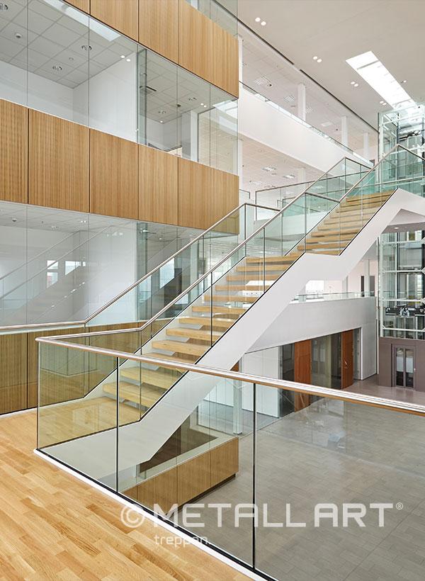 Ganzes Glasgeländer für Treppen