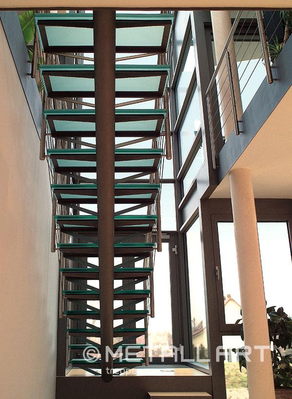 Glasstufen Aufgang Treppe