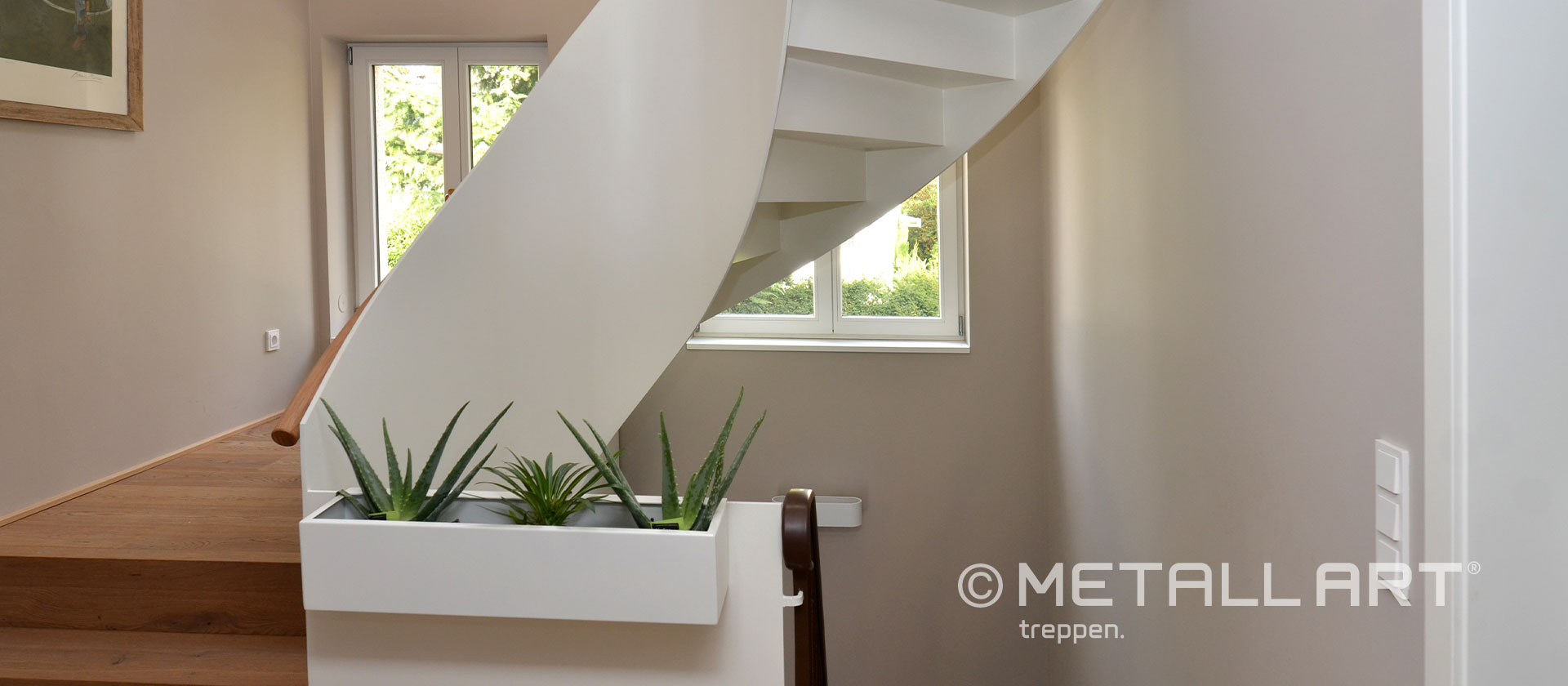 Offene gewendelte Treppe