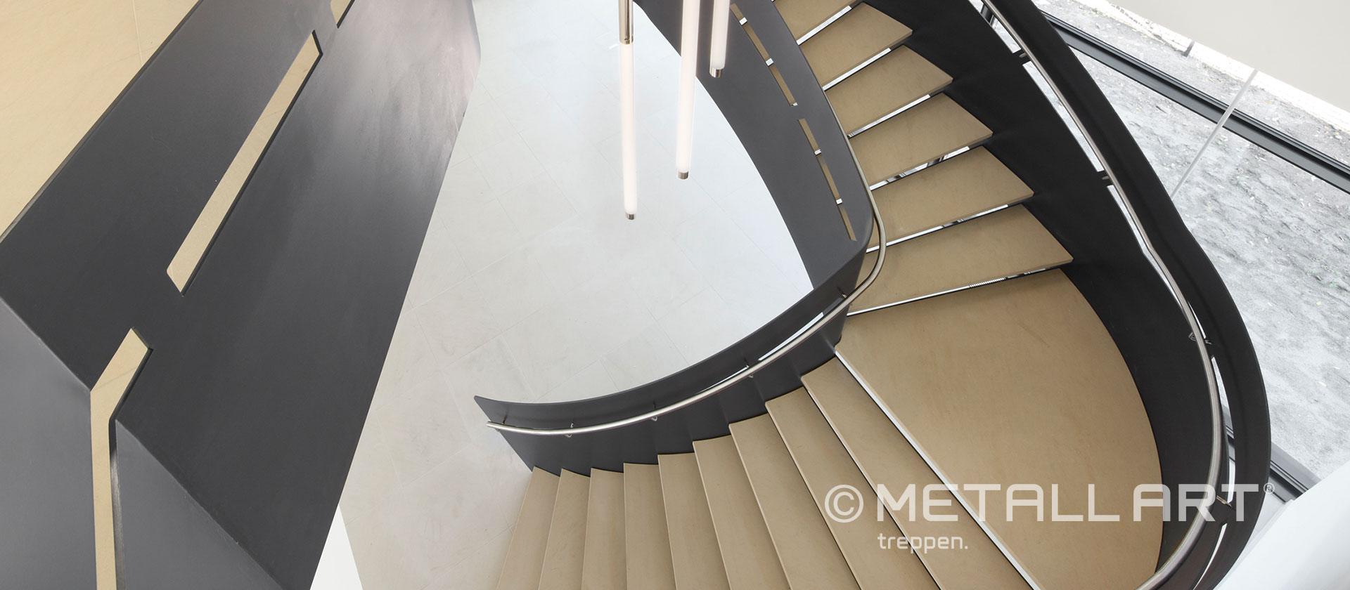 Stahltreppe modernes Gebäude