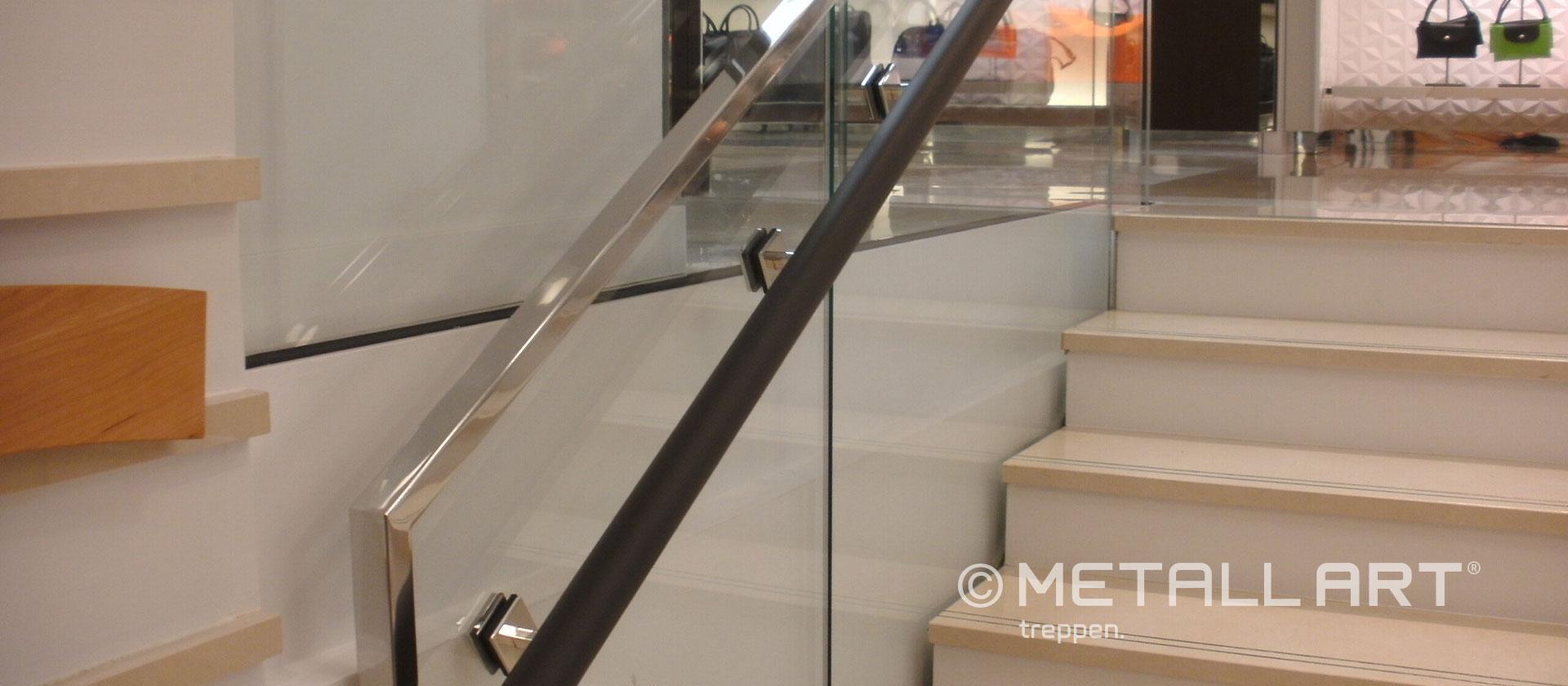 Stylische Treppe in Läden