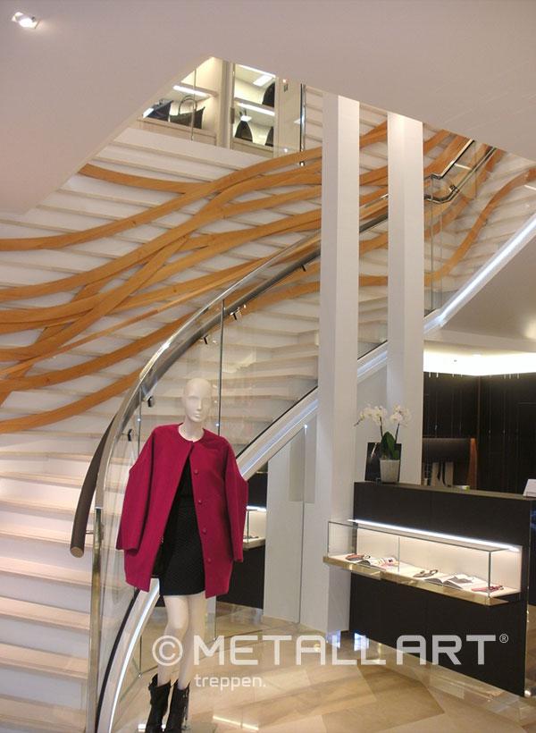 Treppe in Läden