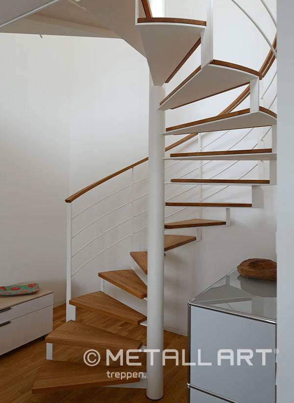 Treppe Spindelform Wohnung
